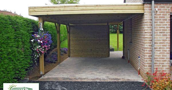 carport toit plat avec brise vue import garden garden pinterest toit plat brise vue et brise. Black Bedroom Furniture Sets. Home Design Ideas
