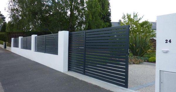 Portails et portillons aluminium cl tures bois brande projet maison pinterest for Cloture maison aluminium
