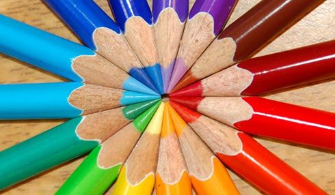 Rainbow color splash | Colored pencils |