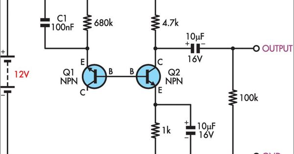 simple white noise generator circuit diagram