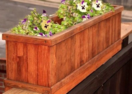 how to build a flower box for deck railing 1