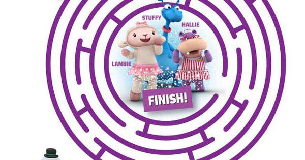 Doc McStuffins Free Printable Circle Maze. Kids love mazes. Print out some