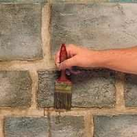 Step By Step Instructions For Creating A Stone Block Effect Faux Stone Walls Faux Stone Faux Brick