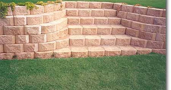 Pin By Mary Beth Hakomaki On Ideas For Pending Projects Landscaping Retaining Walls Diy Landscape Steps Backyard