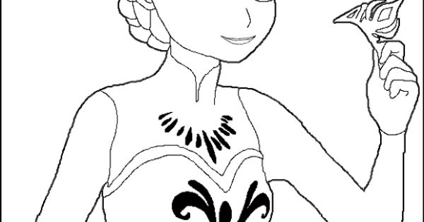 Elsa Crown Coloring Pages