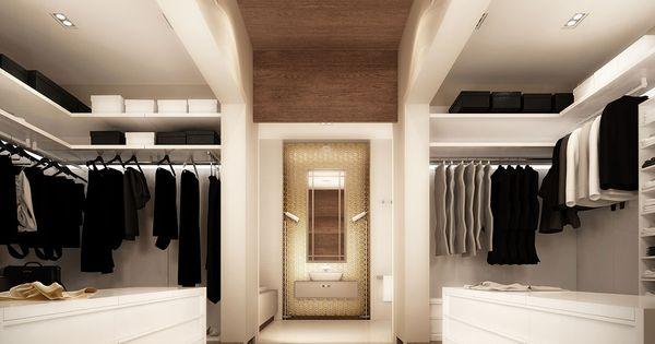 Gedeelte in midden met laminaat over plafond gedeelte waar spiegel op kan scheiding tussen - Scheiding tussen twee kamers ...