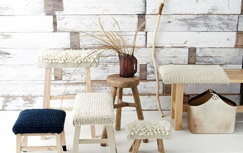 How-To knitted stool covers by marthastewart