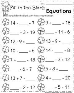 March First Grade Worksheets First Grade Worksheets Mental Math