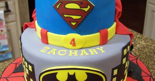 Captain America Batman Cake