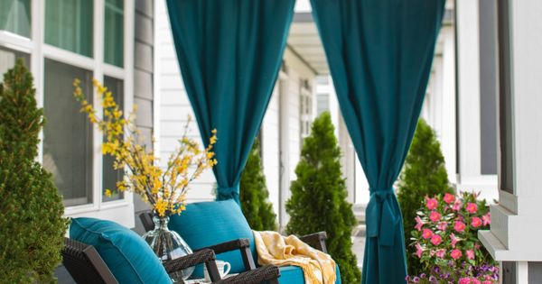 Add Privacy To Your Porch With Panels Of Rich Blue