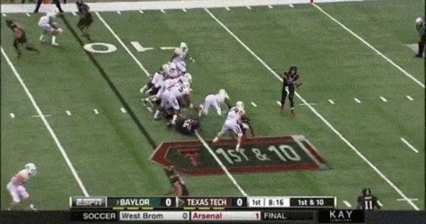 Texas Tech Qb Patrick Mahomes Throws For Nearly 600 Yards Against Baylor Fatmanwriting Texas Tech College Football Season Texas