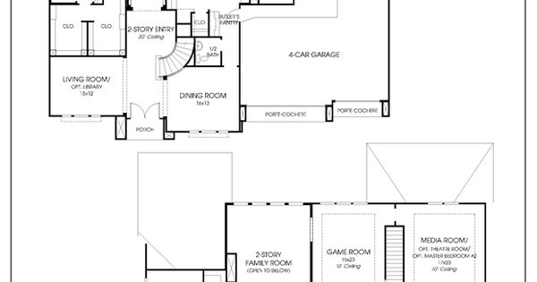 Perry Homes Floor Plan For 4931S