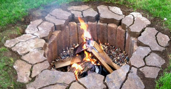 Outdoor Fire Pit. Only cost $42 to make! Such a great idea!