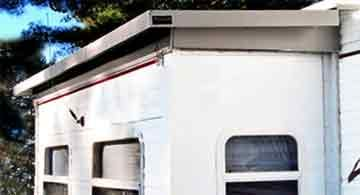 Slide Out Rv Camper Awnings Make Big Difference For Those Fed Up With Cleaning Slide Outs Roofs From Leaves And Debris Camper Awnings Awning Camping Rv Living