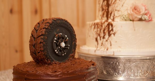 A Different Groom S Cake Off An Off Road Tire Covered In