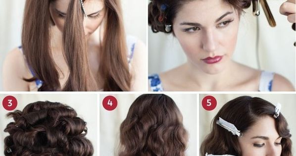 5 Hairstyles For Short Hair Erin Rose: 30 DIY Vintage Hairstyle Tutorials For Short, Medium, Long