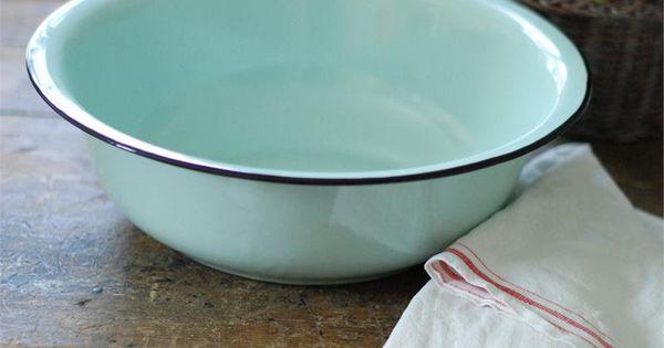 Enamelware Basin In Robins Egg Blue For The Love Of Aqua