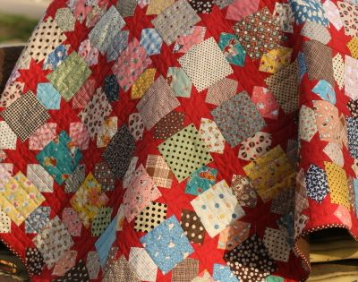 Oh My Stars! Quilt idea using favorite scraps by Make-It-Do.com