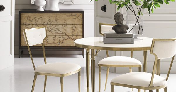Hewitt Gold Occasional Table Dining Room Chairs Dining Chairs
