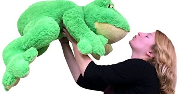 Giant Stuffed Frog 36 Inches Soft Big Plush Animal Huge Soft 3 Feet Long 2015 Amazon Top Rated Plush Pillows Toy Big Plush Plush Animals Plush Pillows