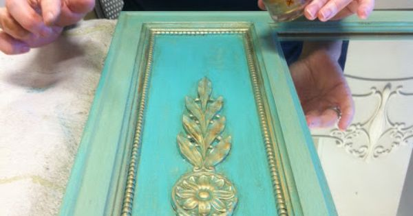 Maison Decor: Turquoise and Gold Inspiration! I painted the entire thing with