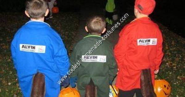 Coolest Homemade Alvin And The Chipmunks Group Costume Diy Costumes Kids Alvin And The Chipmunks Group Halloween Costumes