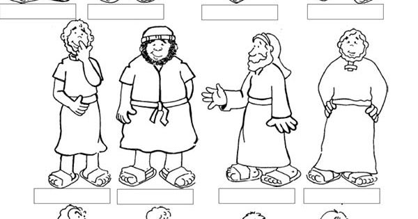 Jesus 12 Disciples Coloring Page