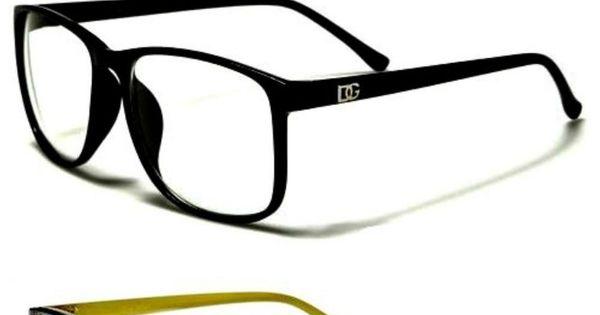 Hipster Black Frame Reading Glasses : DG Designer Womens ROUND BLACK Frame CLEAR Glasses NERD ...