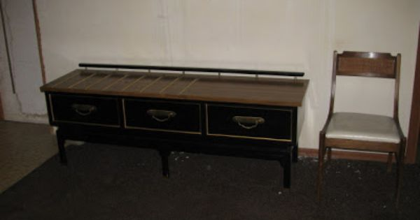 Mid century american of martinsville hotel furniture black for American martinsville bedroom furniture