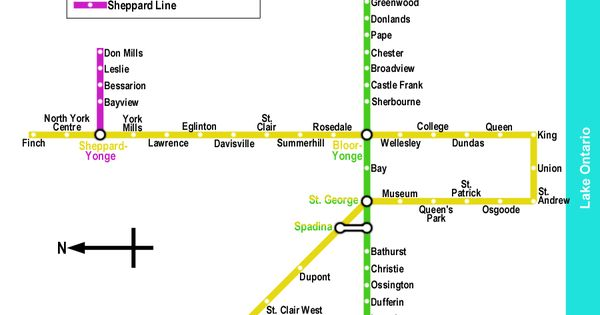 Toronto Subway Map Mapa Viagens Cartografia