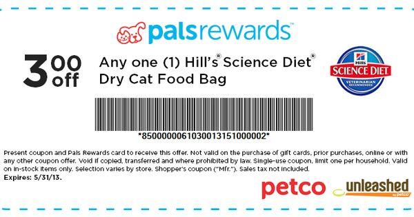 Petco 3 Off Science Diet Cat Food Printable Coupon Science Diet Cat Food Printable Coupons Science Diet