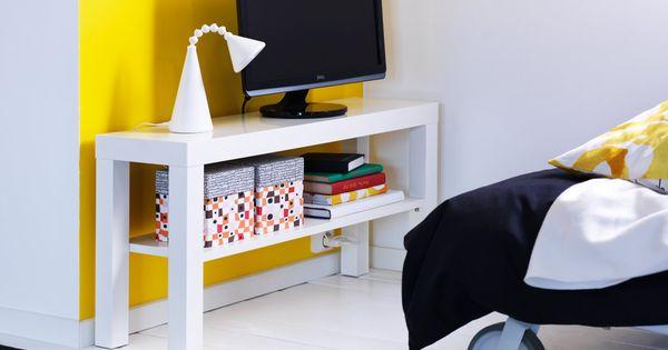 Lack smal tv b nk i vitt living room pinterest for Diferencia entre halla y living room