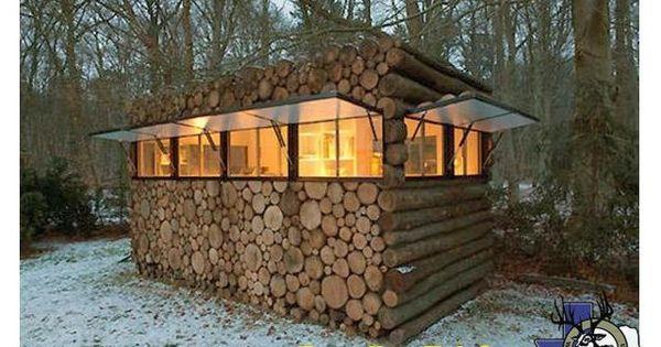 Log cabin deer stand deer stands pinterest log for Log cabin gunsmithing