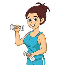 Free Fitness And Exercise Clipart Clip Art Pictures Graphics Illustrations Clip Art Clip Art Pictures Light Blue Aesthetic