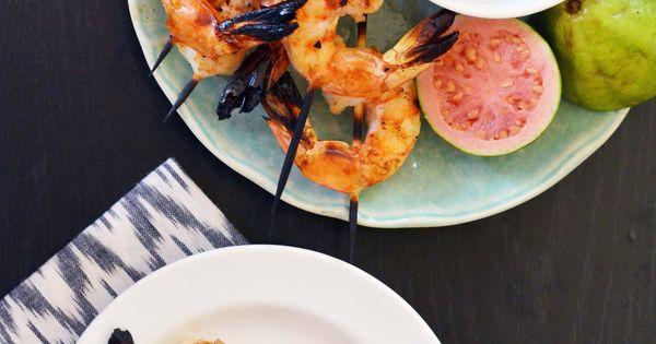 Grilled Shrimp with Rum-Guava Glaze   Recipe   Glaze ...