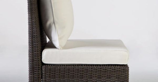 All weather wicker solano sectional armless chair chairs world and