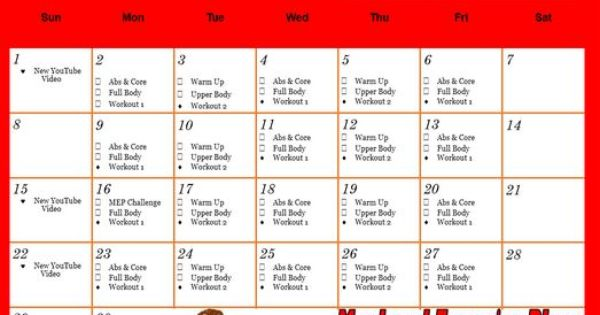 september workout calendar week 1 schedule sign up for newsletter to get password decembers