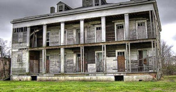Le Beau House in Arabi, Louisiana. Abandoned plantation home near the Domino