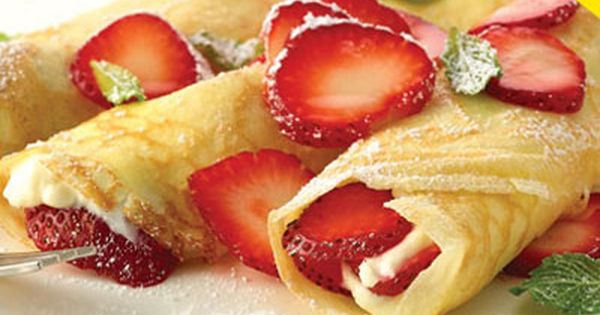 strawberry cream cheese crepes and other grilled desserts