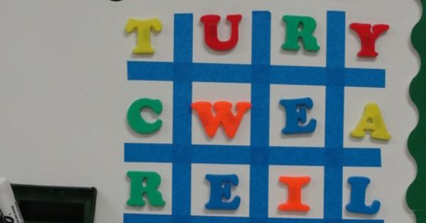 Magnetic Letter Boggle-duh! Great idea for morning work!