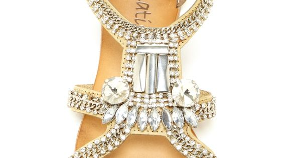 Jeweled sandals - photo