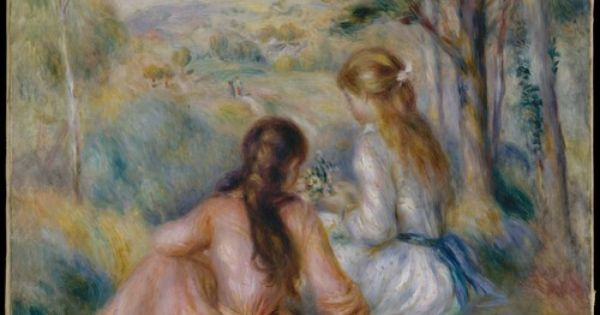 in the meadow renoir essay In the meadow, 1876 by claude monet impressionism genre painting.