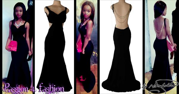 Plus size evening dresses plus size - Black Sexy Soft Mermaid Matric Dance Dress Witha Low Open Back