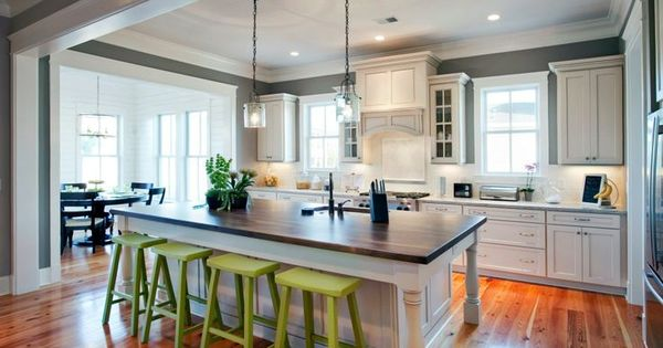 Neutral colors for kitchen pop of color against a for Neutral colors for a kitchen