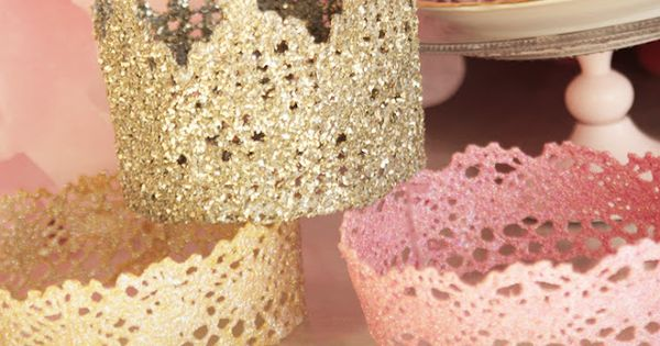 Lace Princess Crowns DIY...for little girls party or a Knights King party.