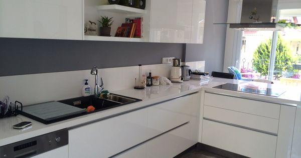 White Modern Kitchen Kuche Freistehend Freistehende Kuchenschranke Und Moderne Weisse Kuchen