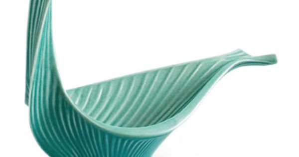 Jonathan Adler Large Jade Bird Bowl in All Pottery