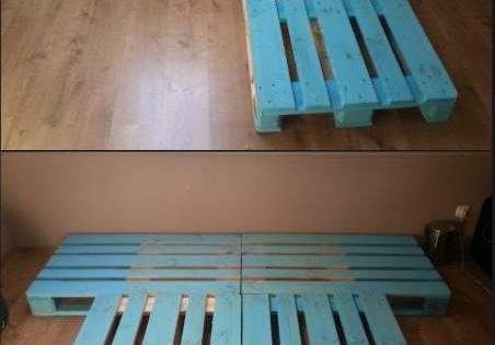 Cheap DIY Bed Frame! Spare bedroom? Kids playroom?