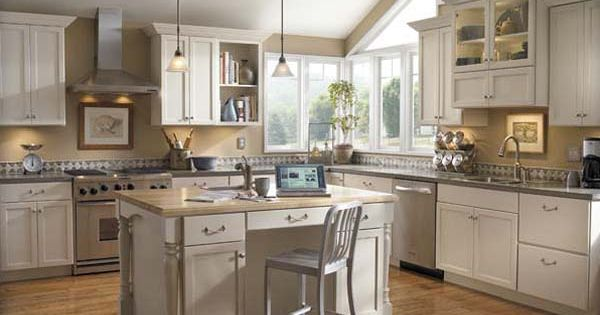 White Kitchen Cabinets With Grey Backsplash