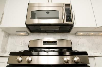 How Close Can A Microwave Over The Stove Be Homesteady Microwave Range Hood Oven Cleaning Microwave Above Stove